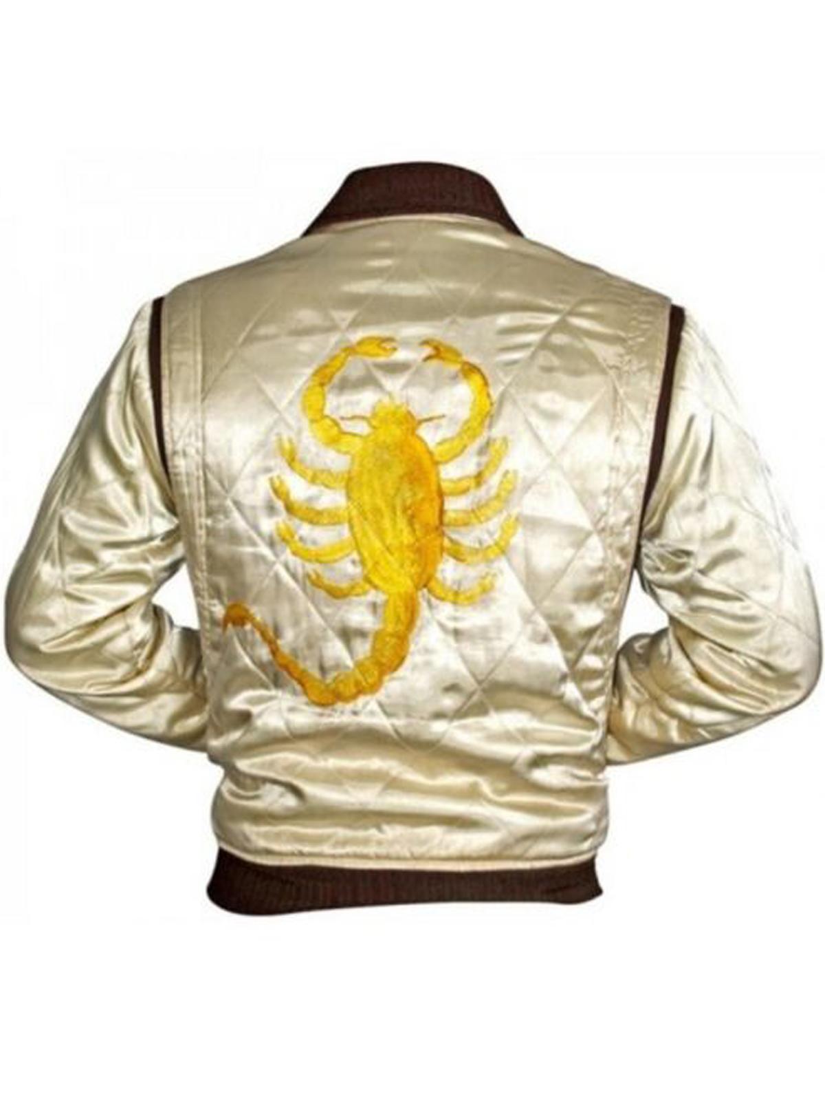 Drive Scorpion IVORY Color Satin Jacket