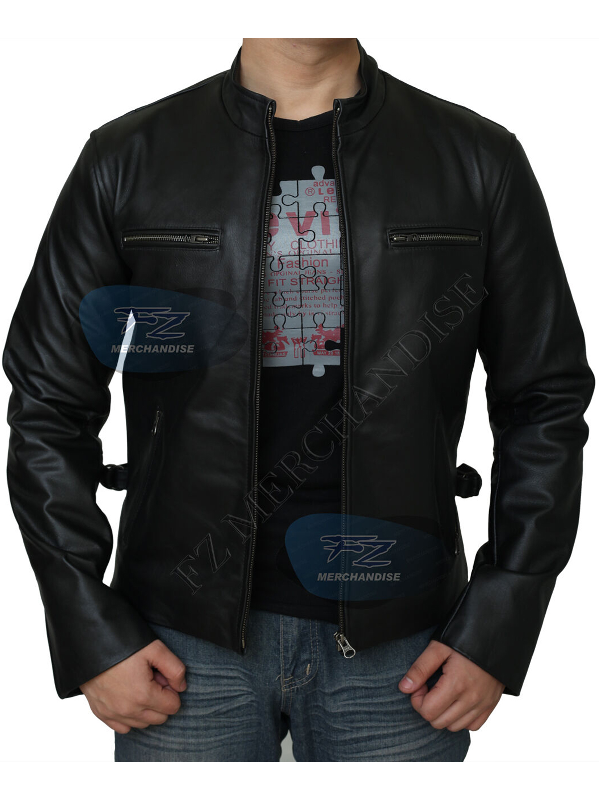 Fast & Furious Black Real Leather Jacket